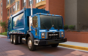 Perfect for on-the-go commercial and municipal jobs, TerraPro® trucks shine in rear-loading refuse.