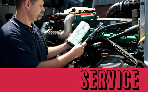 We service and repair all makes and models of heavy duty trucks